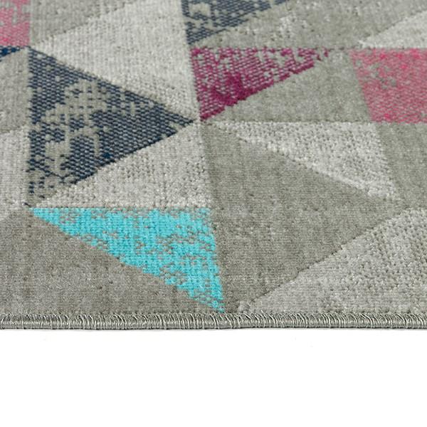 Dark Grey, Navy, Pink (86) Outdoor / Indoor Area Rug