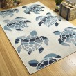 Product Image of Ivory, Light Blue, Navy (01) Outdoor / Indoor Area Rug