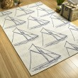 Product Image of Ivory, Navy (01) Outdoor / Indoor Area Rug