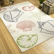 Product Image of Ivory, Navy, Lime Green Outdoor / Indoor Area Rug