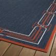 Product Image of Navy, Orange, Ivory (22) Outdoor / Indoor Area Rug