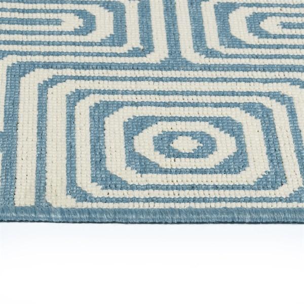 Light Blue, Ivory (79) Outdoor / Indoor Area Rug