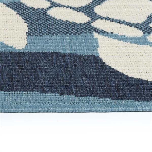 Light Blue, Ivory, Navy (79) Outdoor / Indoor Area Rug