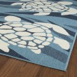 Product Image of Light Blue, Ivory, Navy (79) Outdoor / Indoor Area Rug