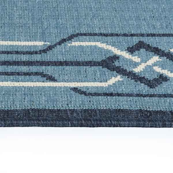 Light Blue, Navy, Ivory (79) Outdoor / Indoor Area Rug