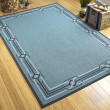 Product Image of Light Blue, Navy, Ivory (79) Outdoor / Indoor Area Rug