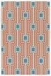 Product Image of Outdoor / Indoor Orange, Light Blue, Ivory (32) Area Rug