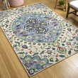 Product Image of Ivory, Light Blue, Lime Green (01) Outdoor / Indoor Area Rug