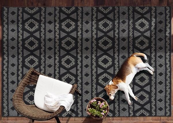 Charcoal (38) Outdoor / Indoor Area Rug