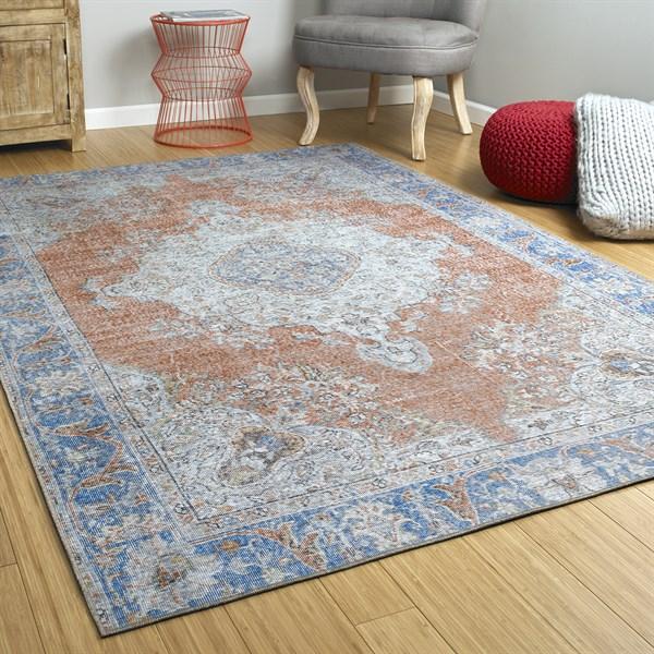 Copper, Blue (67) Outdoor / Indoor Area Rug