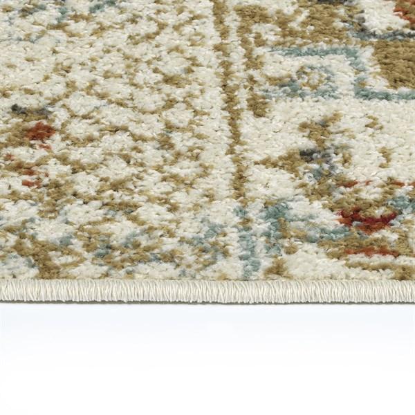 Ivory, Rust, Gold (86) Southwestern / Lodge Area Rug