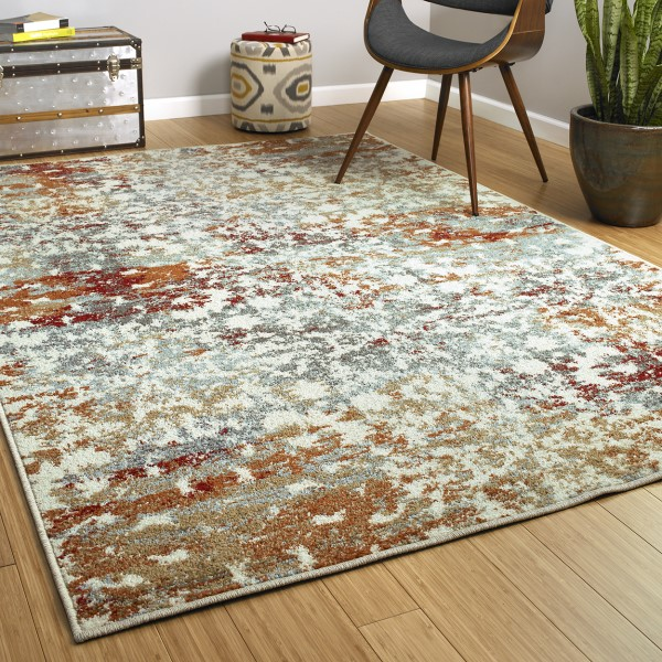 Rust, Spa, Gold (86) Contemporary / Modern Area Rug