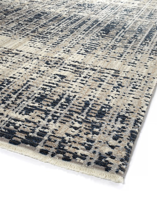 Navy, Taupe (22) Contemporary / Modern Area Rug
