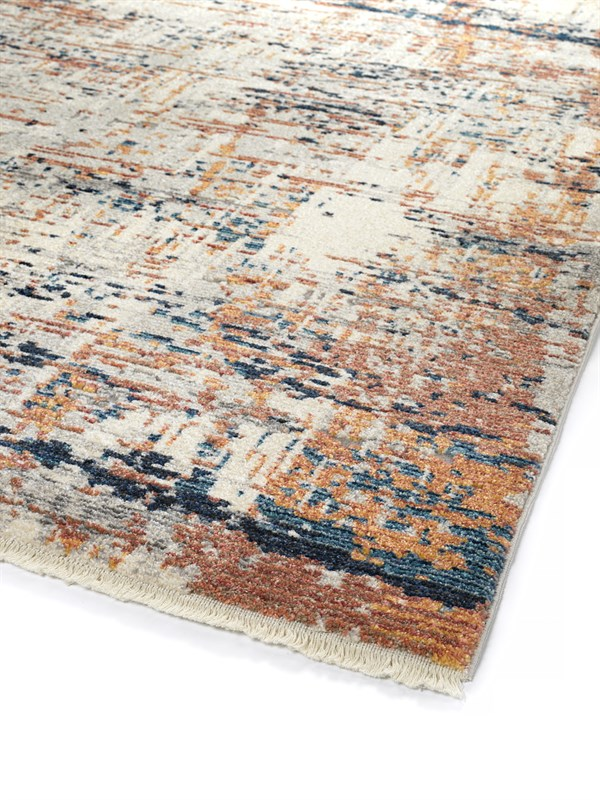 Beige, Rust, Grey (86) Contemporary / Modern Area Rug