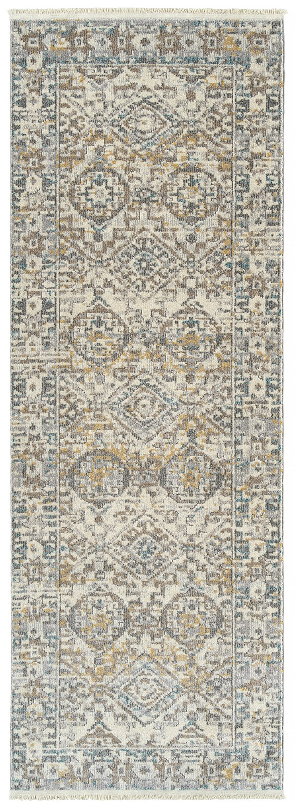 Ivory, Brown, Grey (01) Southwestern / Lodge Area Rug