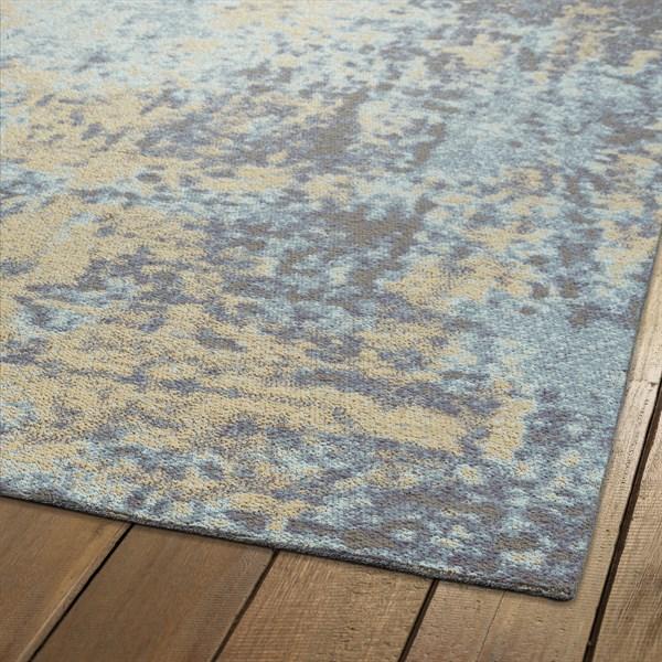 Beige, Blue, Grey (03) Outdoor / Indoor Area Rug
