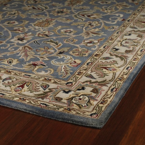 Blue, Beige, Olive Green (17) Traditional / Oriental Area Rug