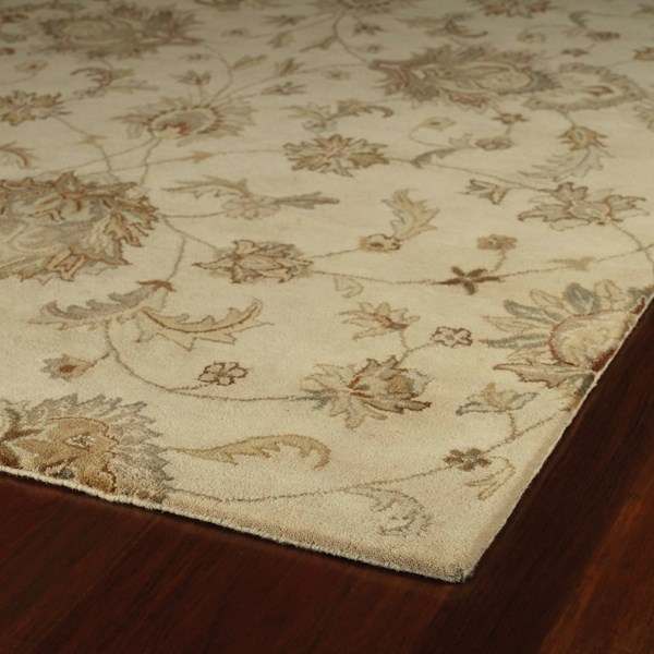 Ivory, Sage Green, Copper (01) Traditional / Oriental Area Rug