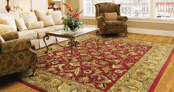Red, Olive Green, Chocolate (25) Traditional / Oriental Area Rug