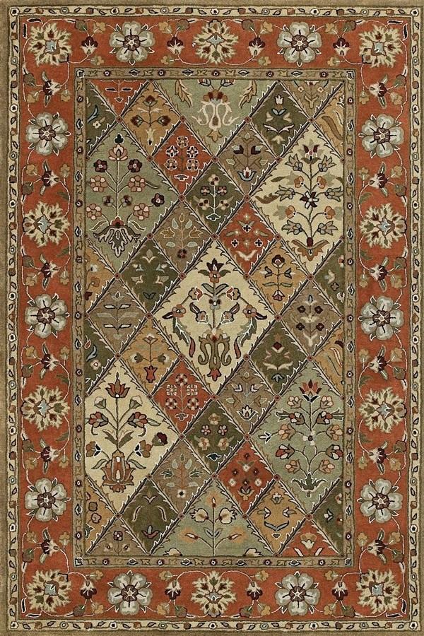 Tarten, Sage, Green, Taupe (26) Traditional / Oriental Area Rug