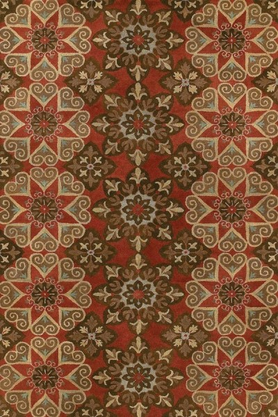 Salsa, Dark Brown, Olive Green (49) Moroccan Area Rug