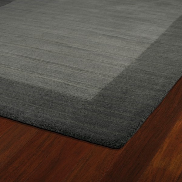 Charcoal (38) Bordered Area Rug