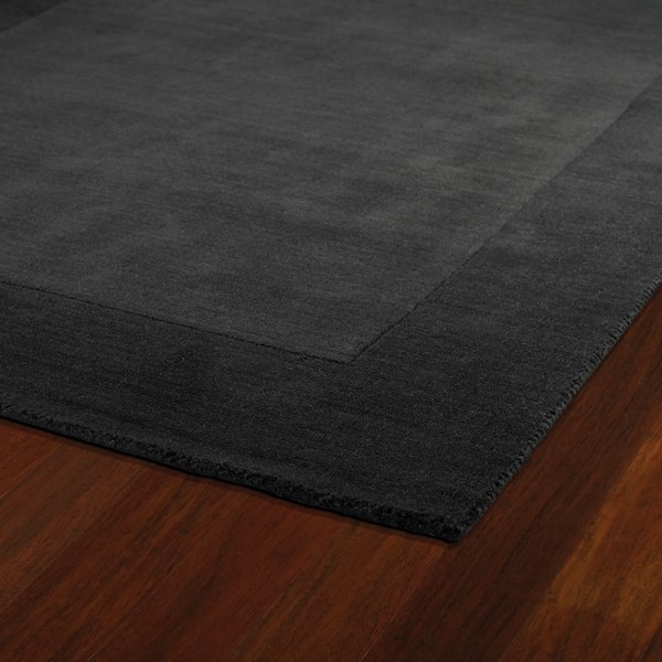 Carbon (85) Bordered Area Rug