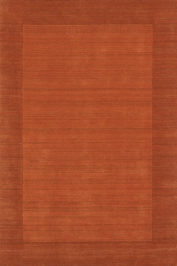 Pumpkin (8231) Bordered Area Rug