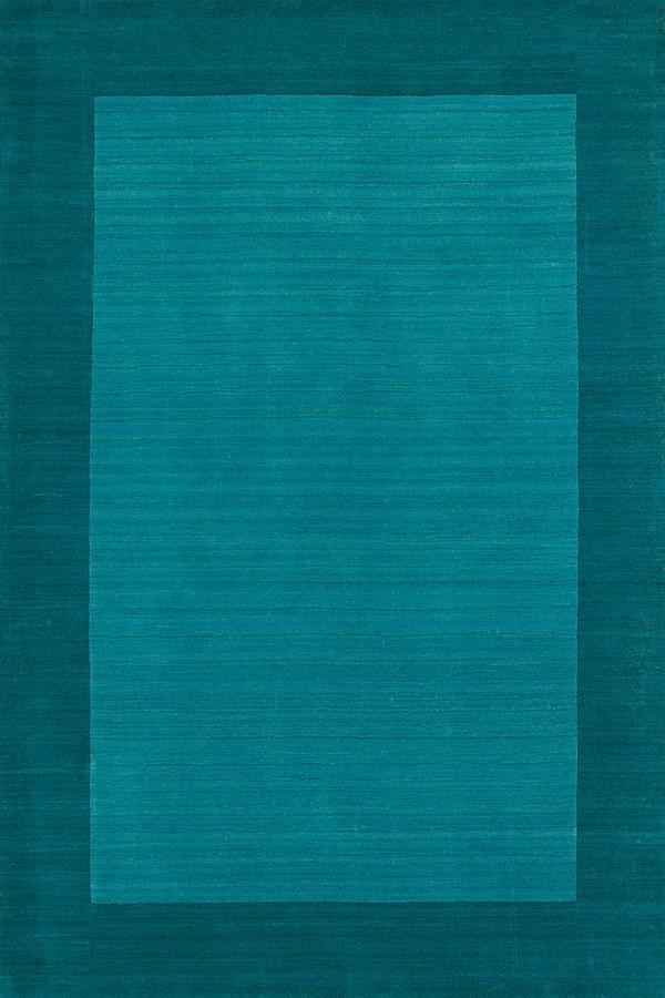 Turquoise (78) Bordered Area Rug
