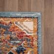 Product Image of Orange, Blue, Cream Vintage / Overdyed Area Rug