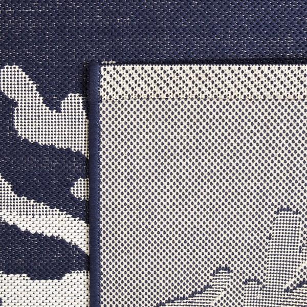 Blue, Cream Outdoor / Indoor Area Rug