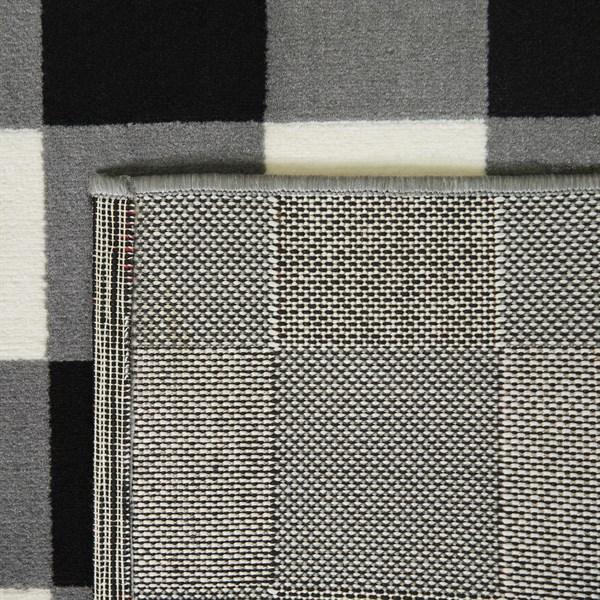 Dark Grey, Cream Transitional Area Rug