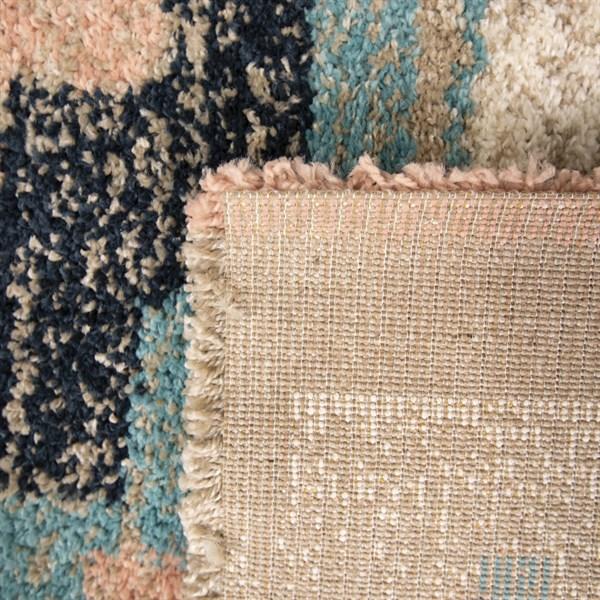 Blue, Pink, Tan Southwestern / Lodge Area Rug