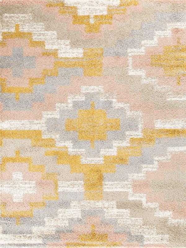 Orange, Pink, Tan Southwestern / Lodge Area Rug