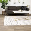 Product Image of Cream, Black, Ivory Moroccan Area Rug