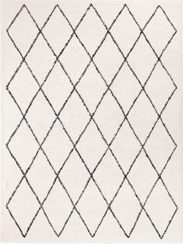 Cream, Black, Ivory Transitional Area Rug