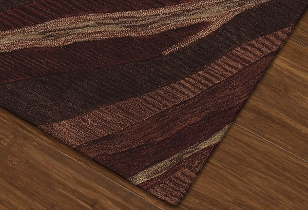 Canyon, Paprika Contemporary / Modern Area Rug