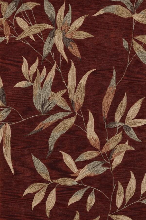 Cinnamon, Beige Floral / Botanical Area Rug