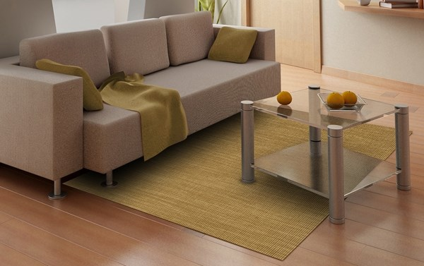 Gold Casual Area Rug