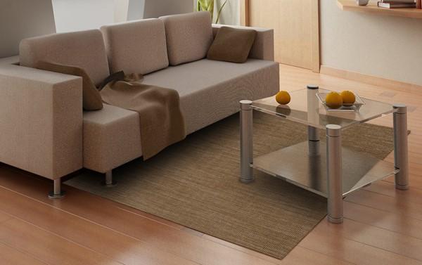 Mocha Contemporary / Modern Area Rug