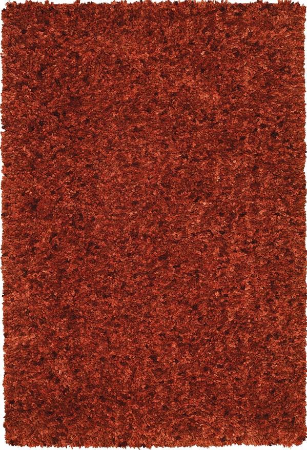 Terra Cotta Shag Area Rug