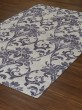Product Image of Linen, Plum Damask Area Rug