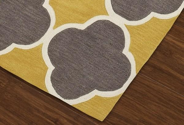 Dandelion, Grey, White Contemporary / Modern Area Rug
