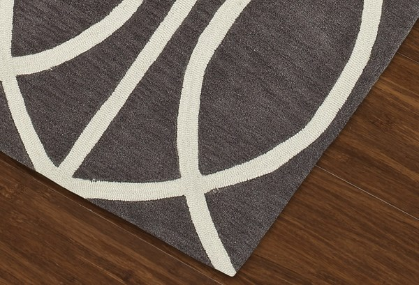 Dolphin, White Contemporary / Modern Area Rug