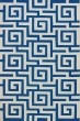 Product Image of Contemporary / Modern Cobalt, White Area Rug
