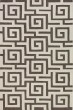 Product Image of Contemporary / Modern Pewter, White Area Rug