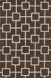 Product Image of Mocha, White Contemporary / Modern Area Rug