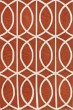 Product Image of Contemporary / Modern Pumpkin, White Area Rug