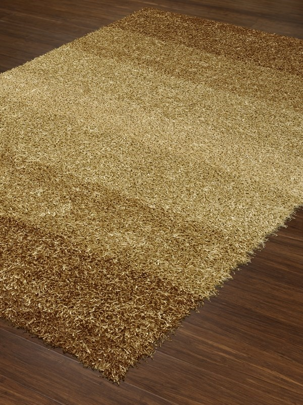 Gold Shag Area Rug
