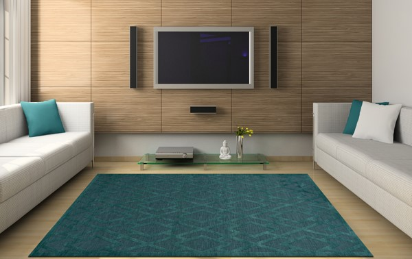 Teal (144) Transitional Area Rug
